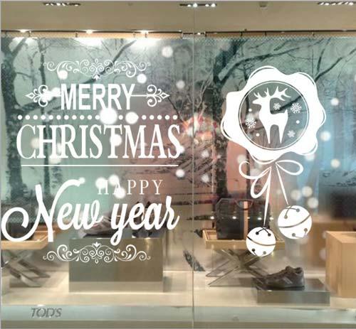 Decal trang trí Noel sẽ phù hợp với những khách hàng đang có ý trang trí Noel trên cửa kính.