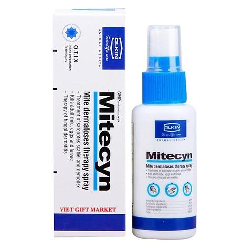 Thuốc Mitecyn sẽ giúp làm dịu nhẹ các vết thương cũng như điều trị viêm da cho chó