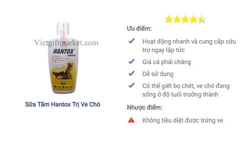 Sữa tắm Hantox có giá bán 50k/lọ