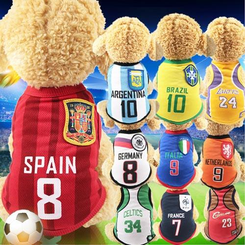 Mẫu quần áo bóng đá dành cho chó mèo có giá từ 30 - 40k