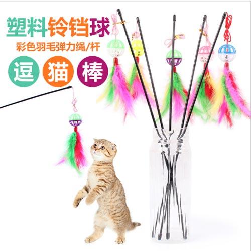 Mẫu Cần Câu Dành Cho Mèo – Mã DCCM112 được làm từ lông nhân tạo và có gắn bóng chuông