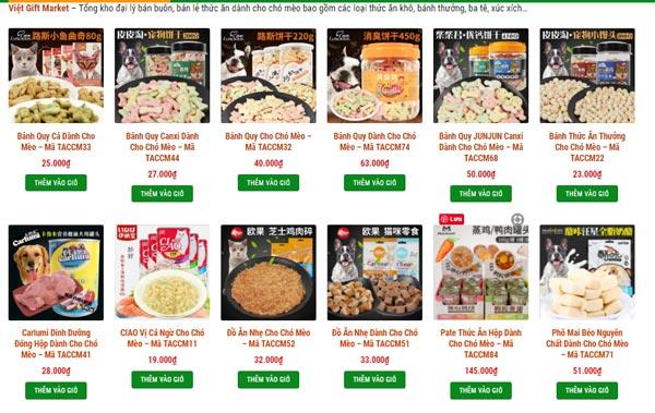 Việt Gift Market Đơn vị bán buôn thức ăn & phụ kiện dành cho chó mèo