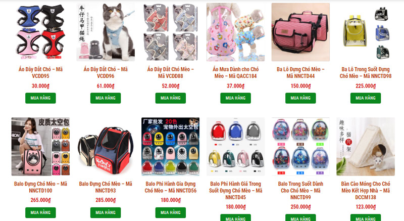 Cửa hàng bán buôn phụ kiện dành cho chó mèo chắc chắn sẽ có đa dạng mẫu mã