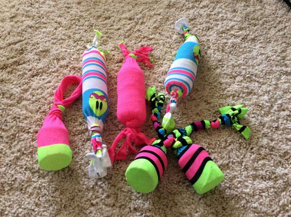 Bạn có thể tự làm đồ chơi cho chó mèo tại nhà với các vật dụng cũ không sử dụng tới.